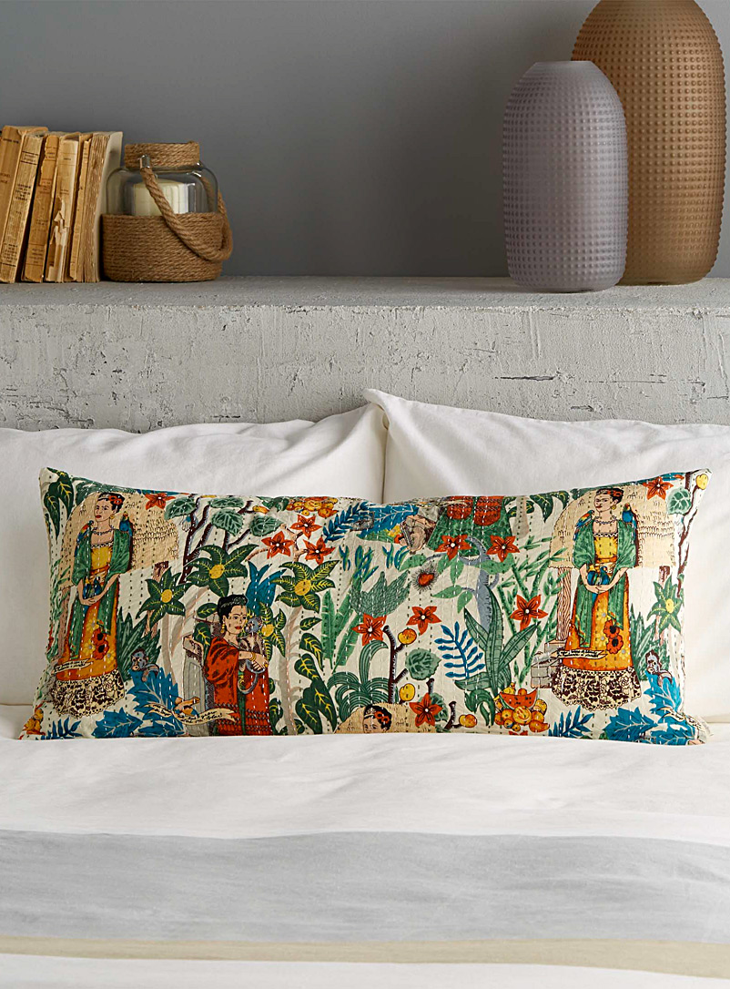 Frida in the garden elongated cushion  15&quote; x 32&quote; - Cushions - Assorted