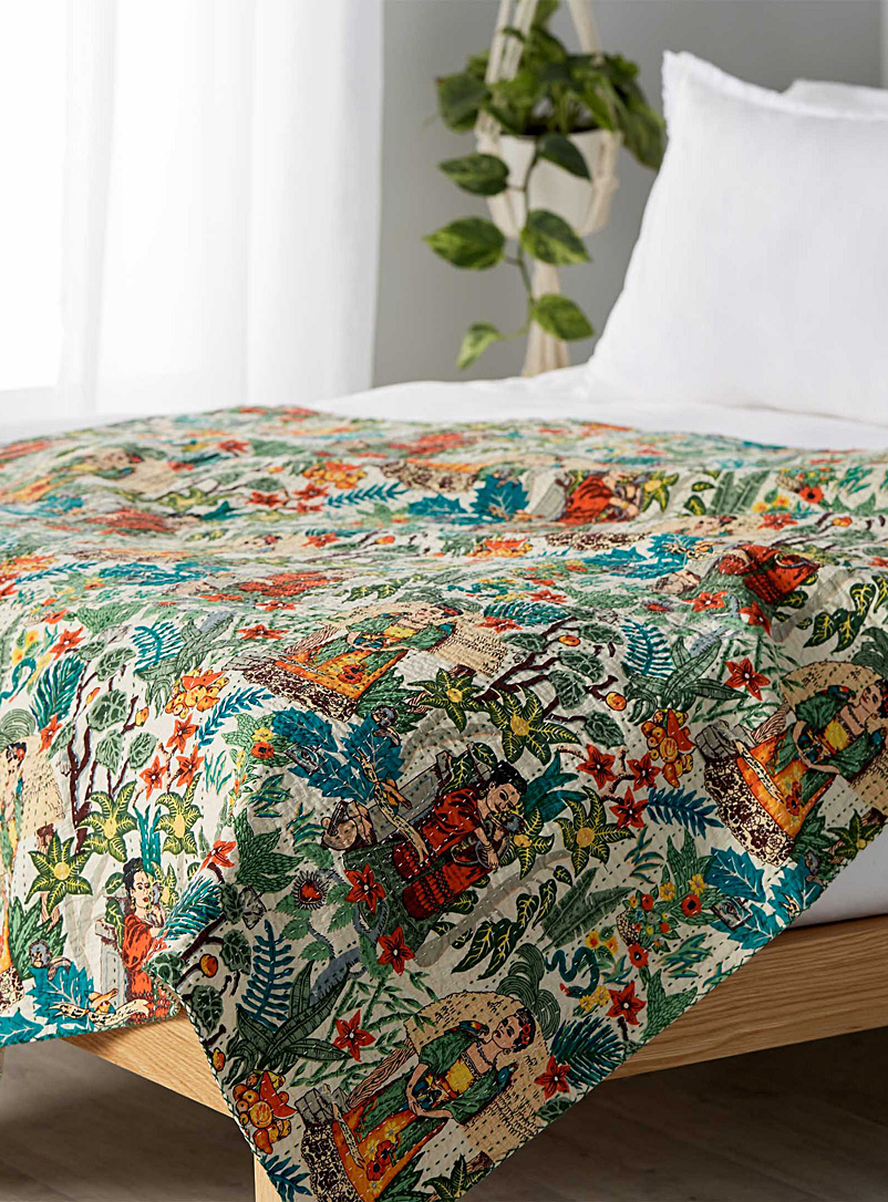 Frida in the garden throw  50&quote; x 65&quote; - Throws - Assorted
