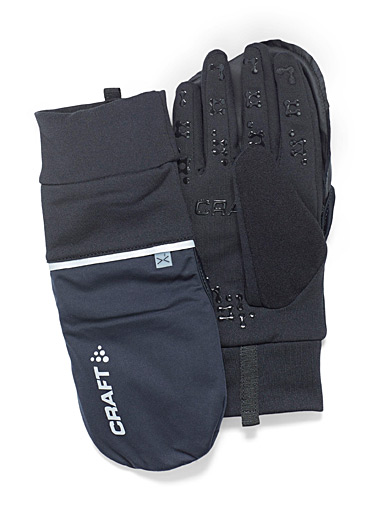 CRAFT Black Hybrid gloves for men