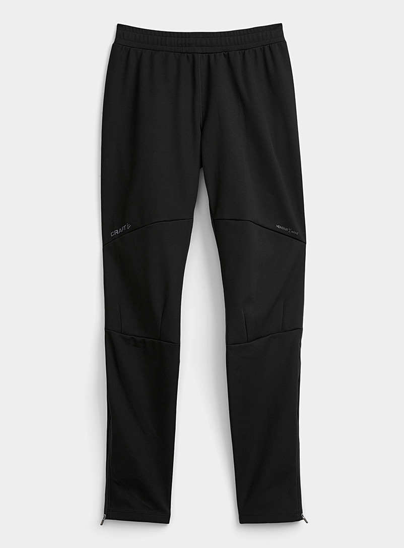 CRAFT Black Glide soft shell pant for men
