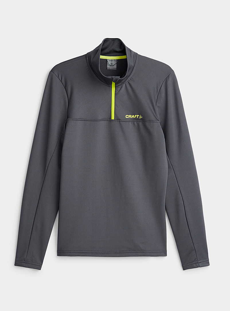 CRAFT Grey Core technical half-zip for men