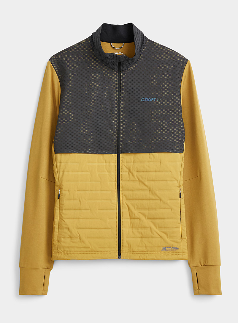 CRAFT Dark Yellow SubZero mixed media jacket for men