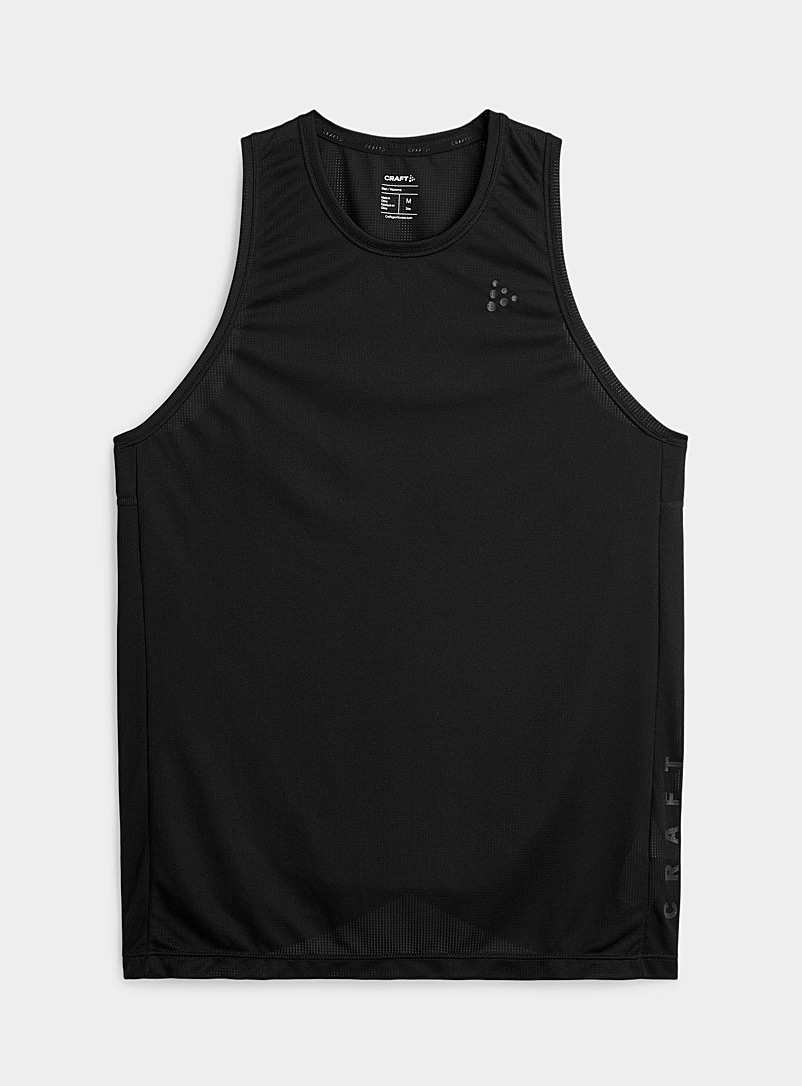 CRAFT Black Core Charge logo breathable tank for men