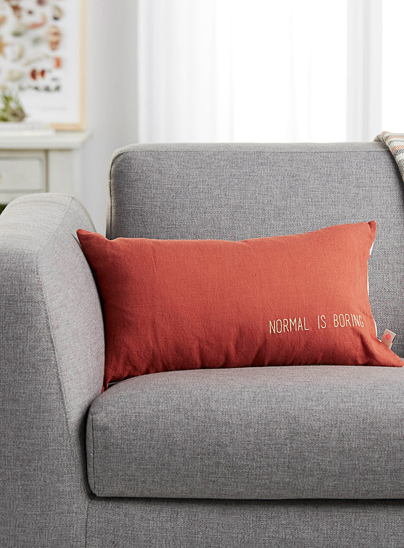 Normal is boring cushion  30 x 50 cm - Solid - Copper