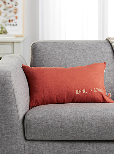 Normal is boring cushion <br>30 x 50 cm