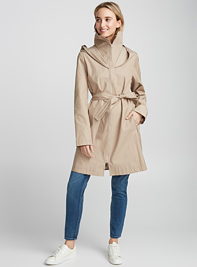 Hooded zip trench