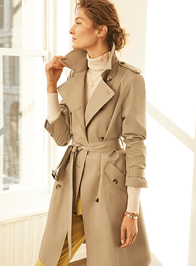 Cotton sateen authentic trench coat
