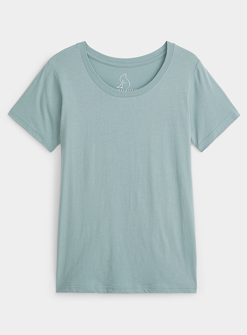 Kuwalla Lime Green Glacier blue T-shirt for women