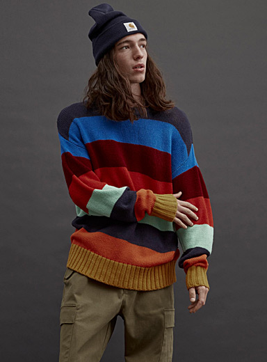 Colourful stripe sweater