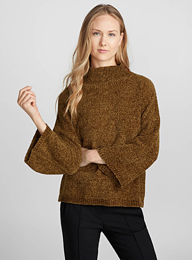 Le pull chenille manches amples