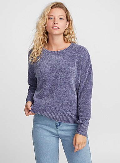 Le pull ample chenille