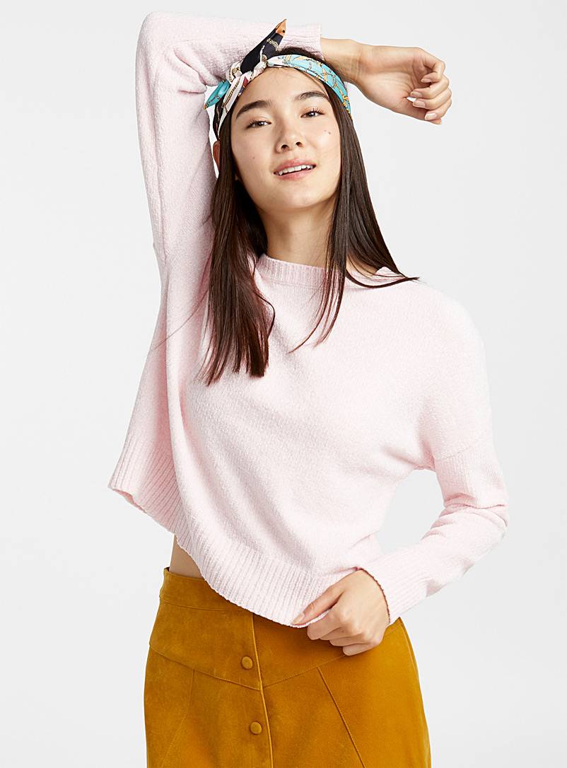Oversized chenille sweater - Sweaters - Pink