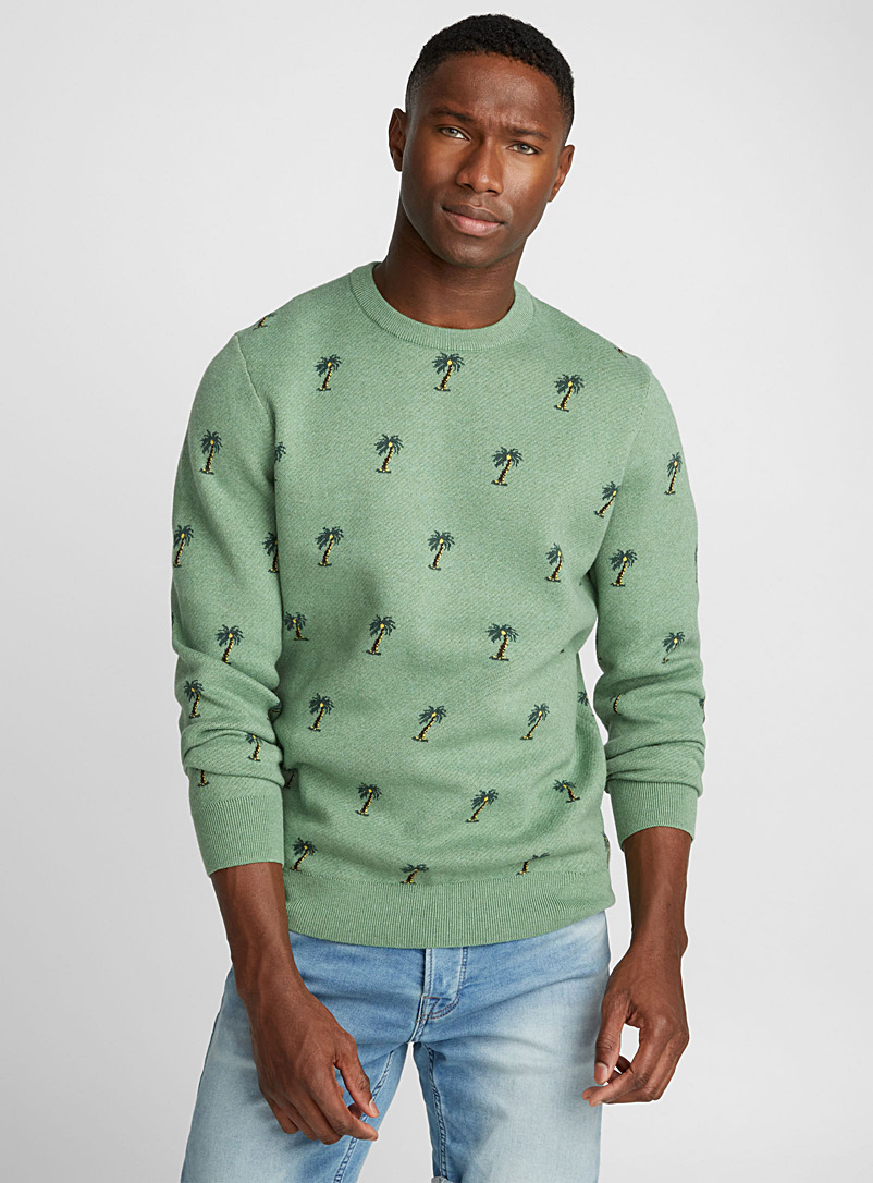 Repeat pattern sweater - Cotton - Kelly Green