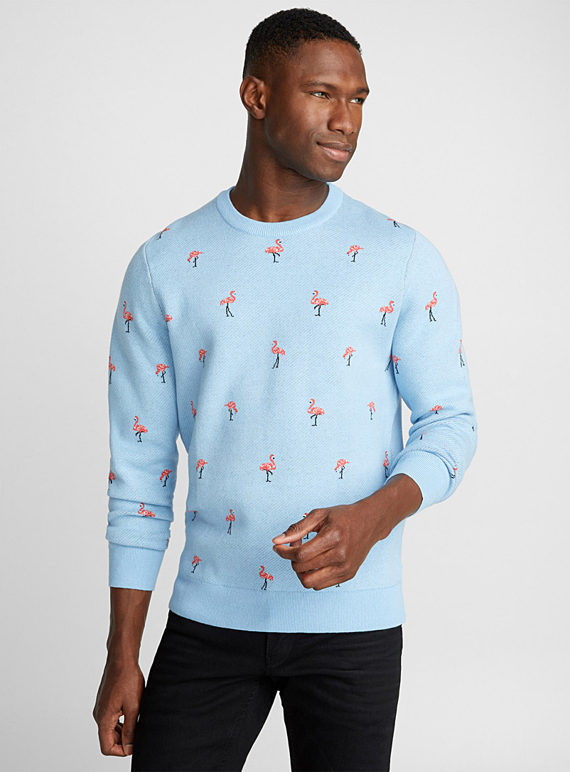 Repeat pattern sweater - Cotton - Baby Blue