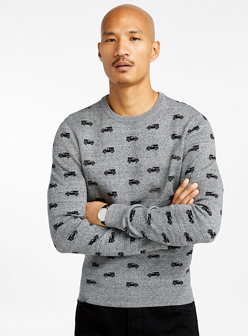 Repeat pattern sweater - Cotton - Silver