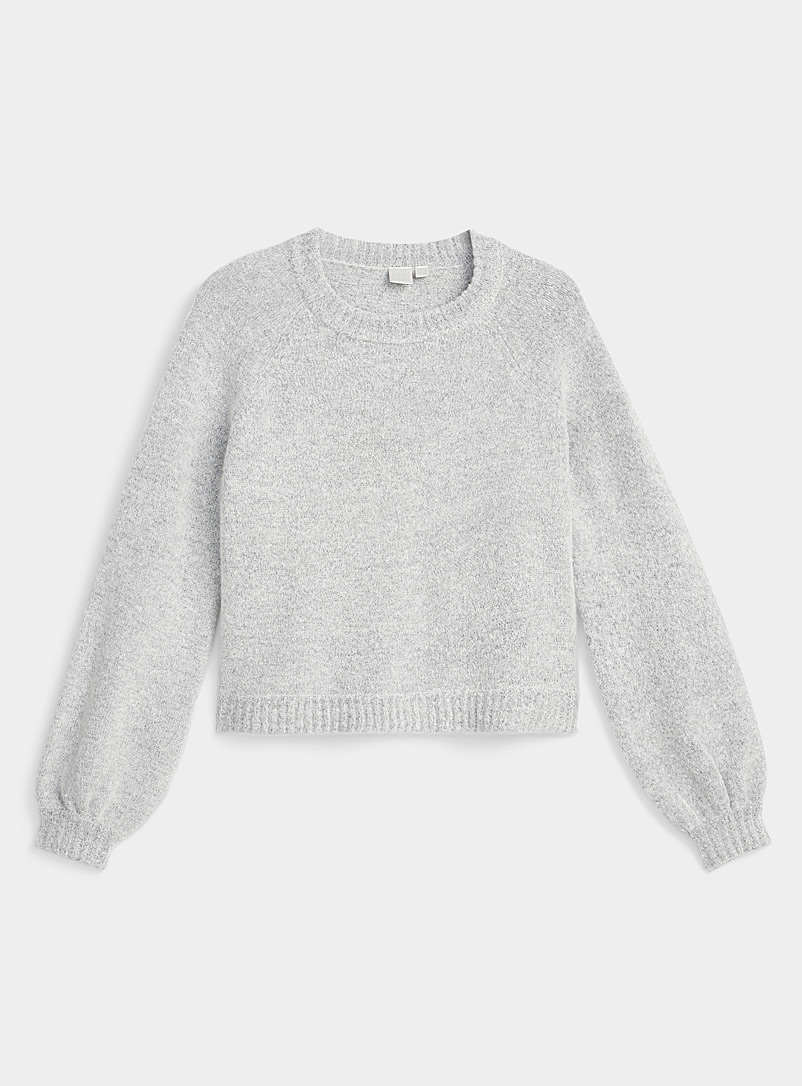Le pull court manches bouffantes