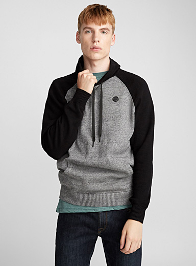 Hooded raglan sweater