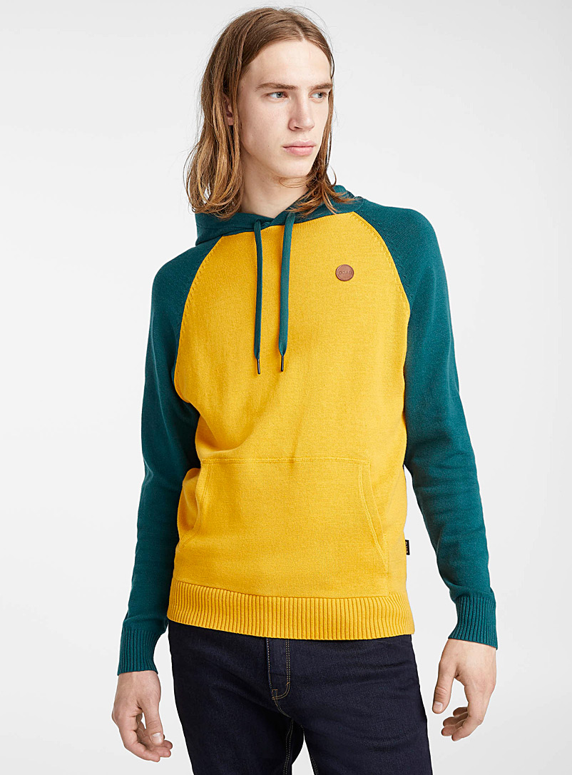 Raglan-sleeve hoodie - Crew necks - Bright Yellow
