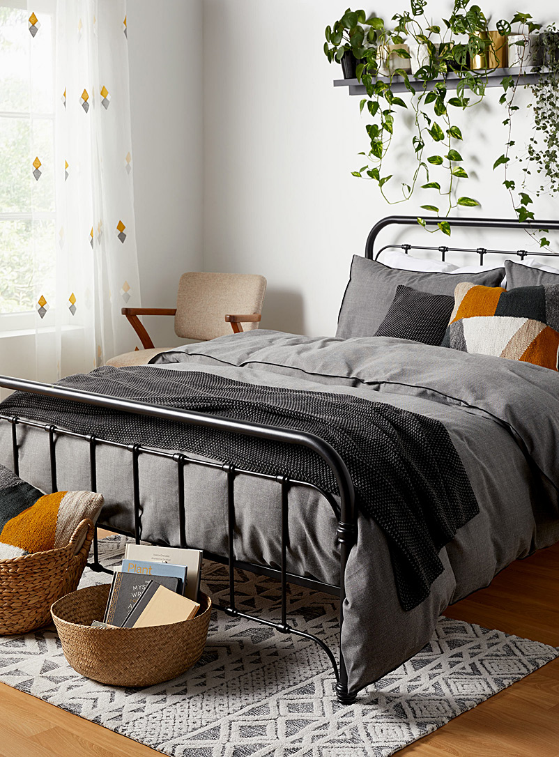 Danica x Simons Maison Charcoal Chambray recycled polyester duvet cover set