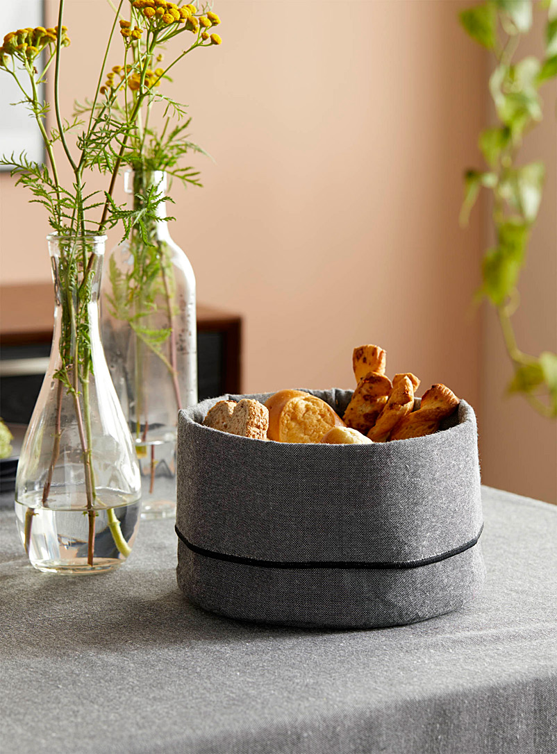 Danica x Simons Maison Oxford Chambray recycled polyester bread basket