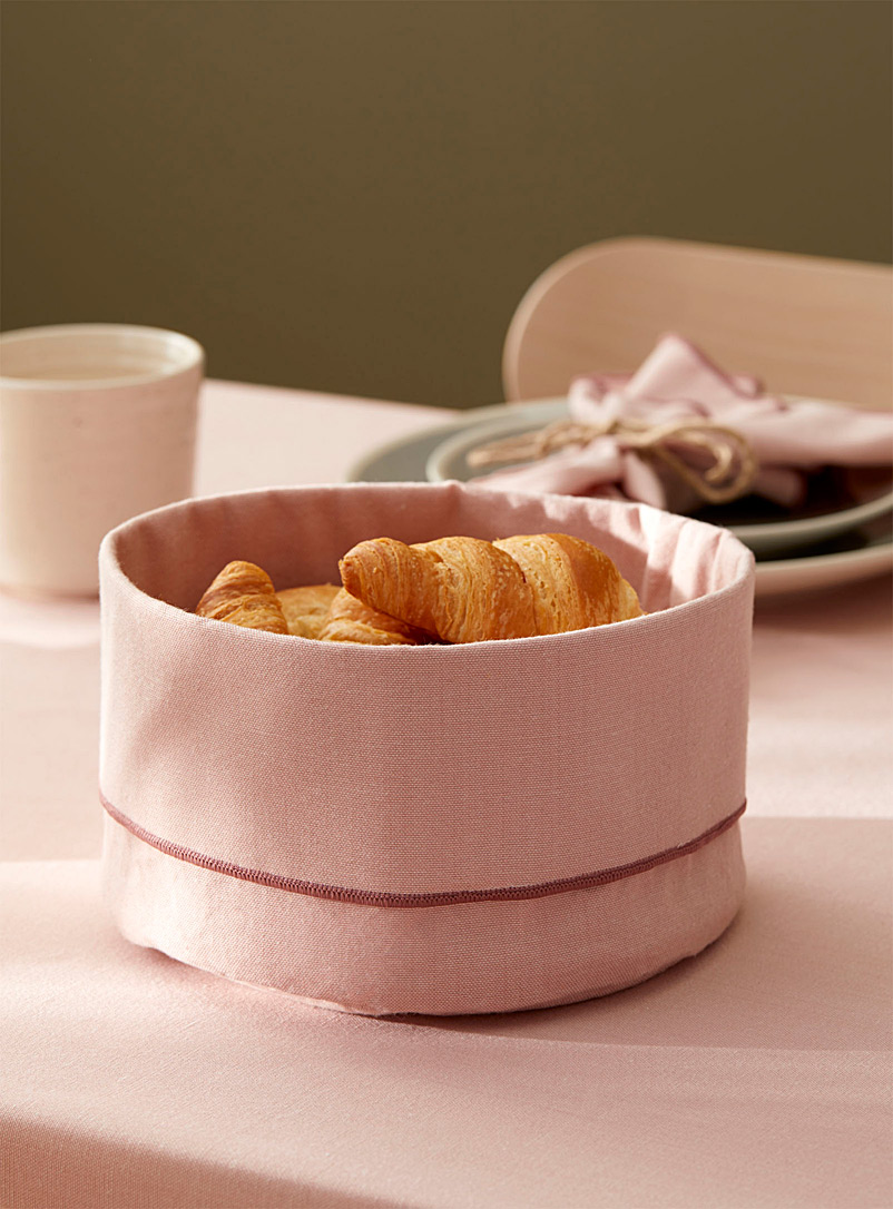 Chambray recycled polyester bread basket