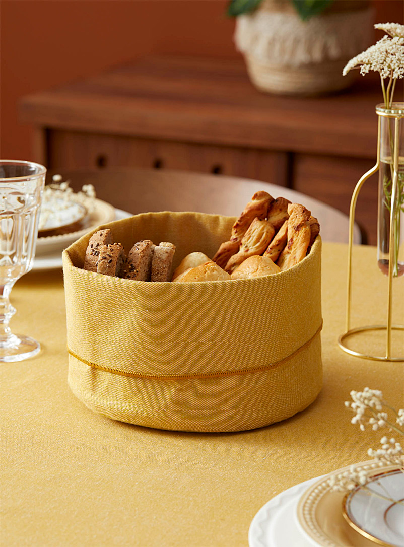 Danica x Simons Maison Golden Yellow Chambray recycled polyester bread basket