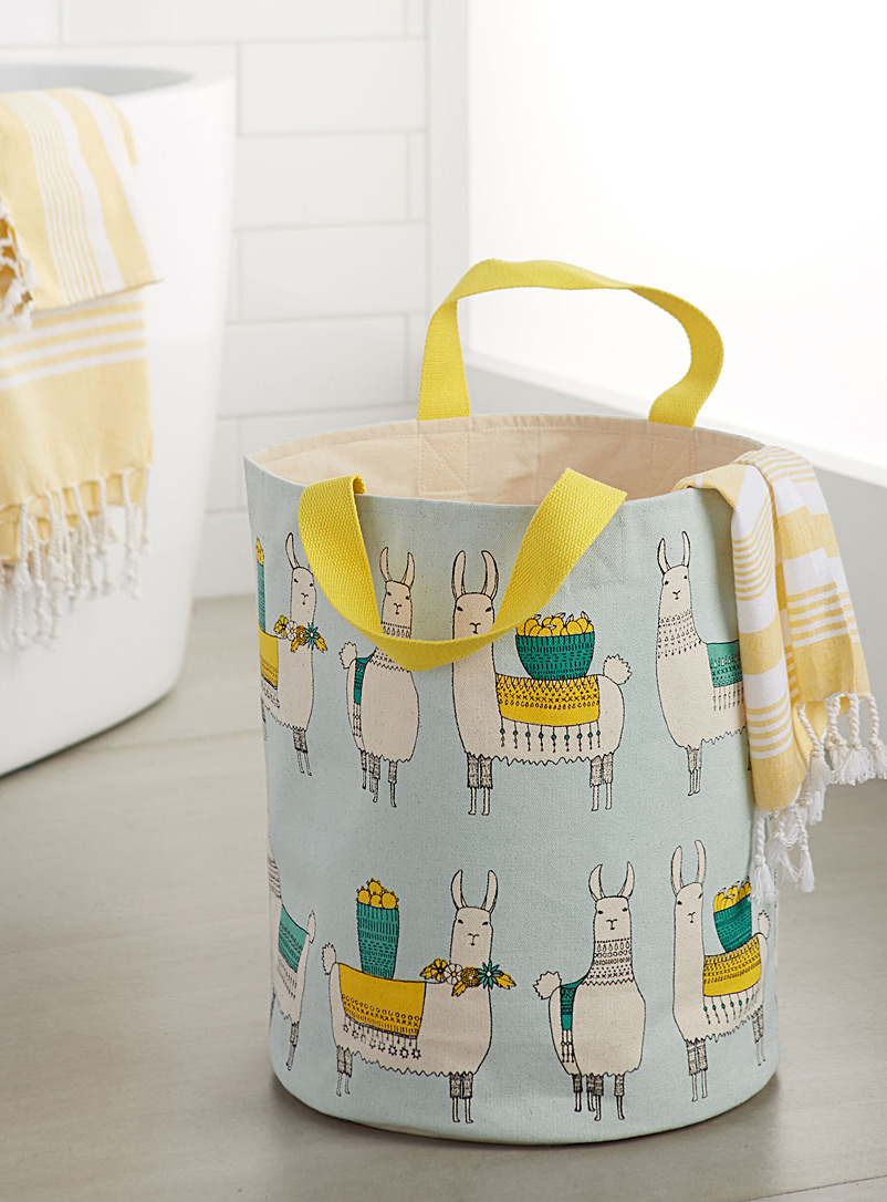 Mountain llama laundry basket - Baskets & Storage - Assorted