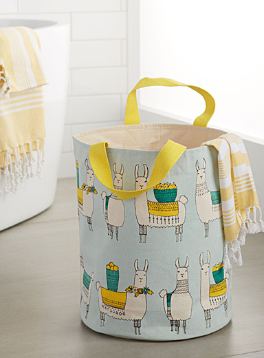 Mountain llama laundry basket