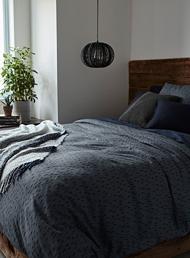 Modern city duvet cover set