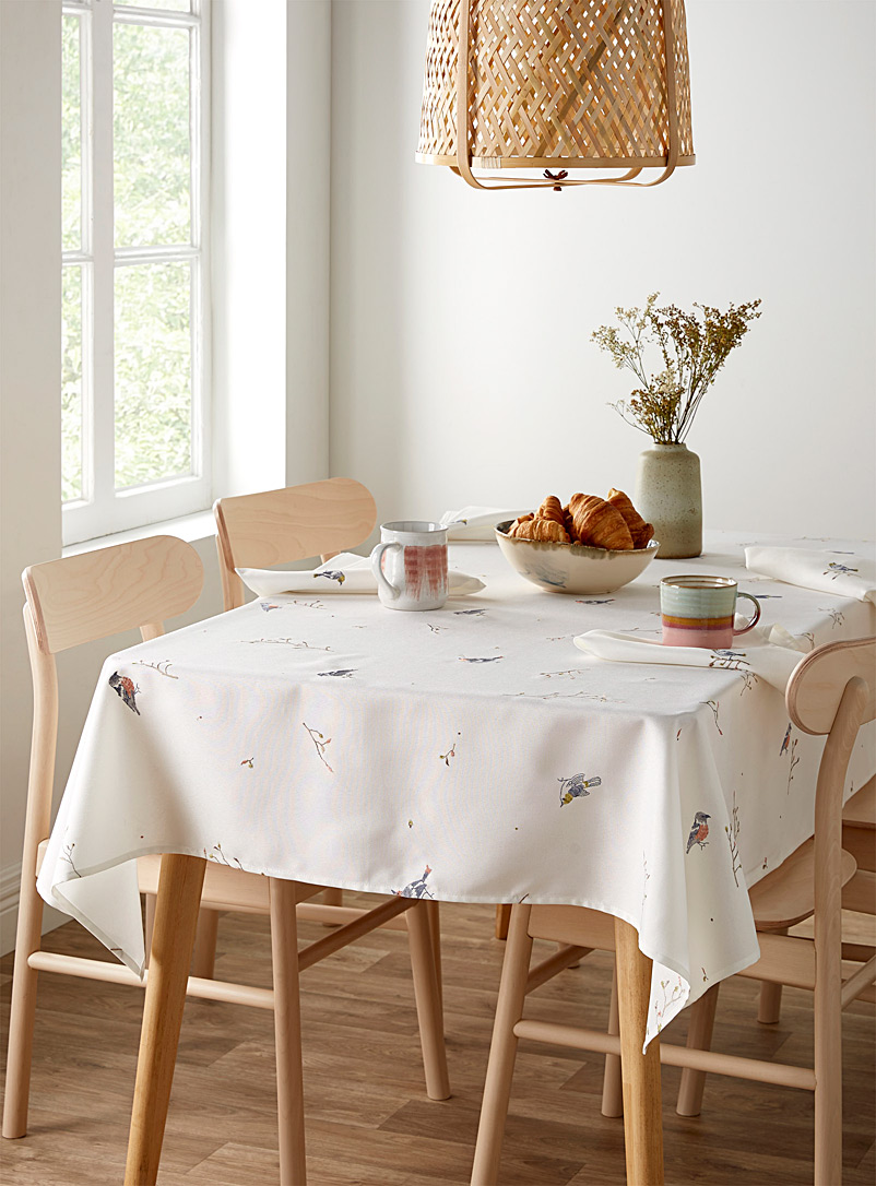 Simons Maison Patterned White Gardener tablecloth