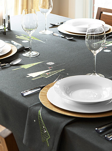Modern Christmas tablecloth