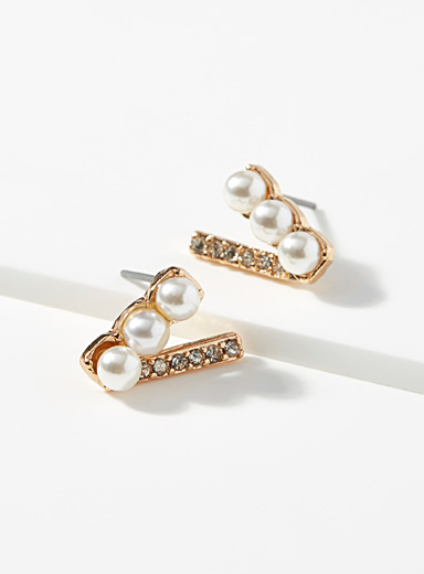 Pearl clapper earrings