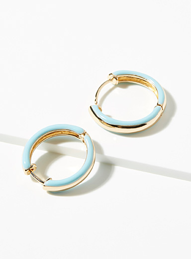 Simons Assorted Turquoise-accent hoops for women