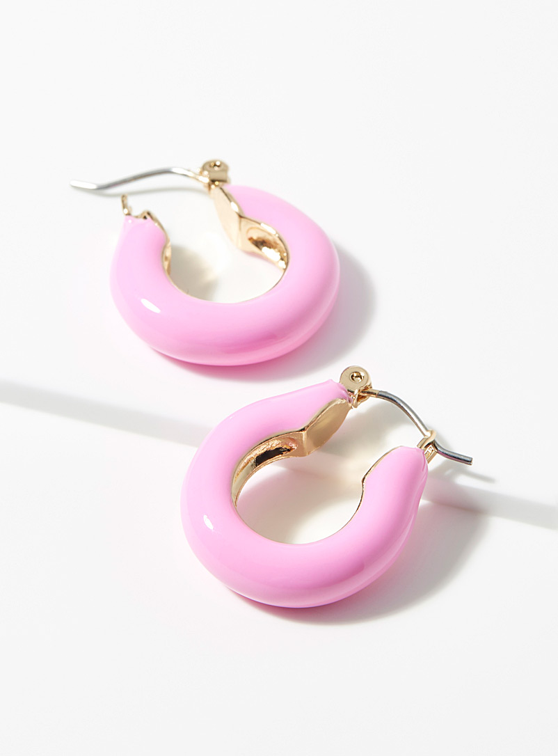 Simons Pink Candy-coloured hoops for women