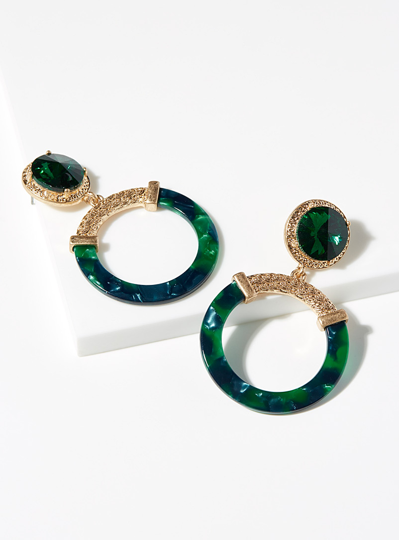 Simons Green Elegant emerald earrings for women