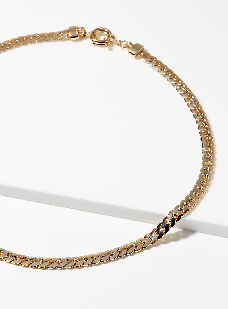 Simons Gold Serpent chain necklace for women