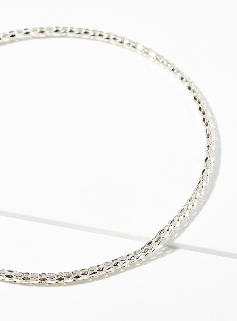 Simons Silver Serpent link chain for women