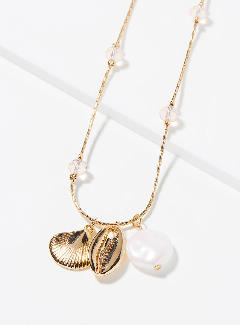 Simons Assorted Seashell pearly long necklace for women
