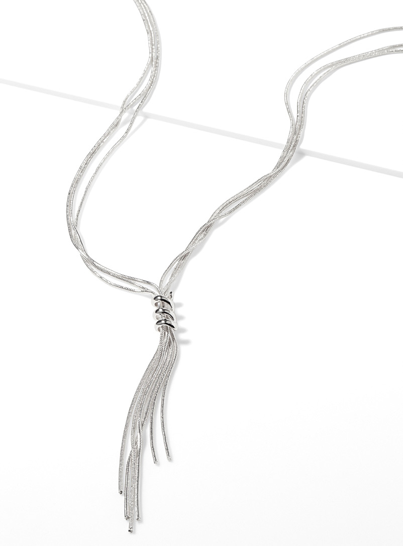 Spiral lasso necklace - Necklaces - Silver