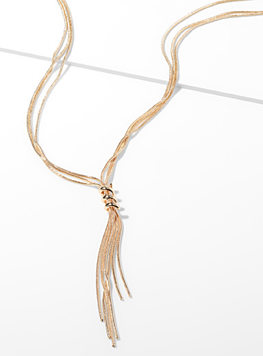 Spiral lasso necklace