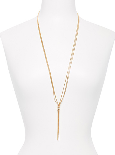 Simons Spiral lasso necklace