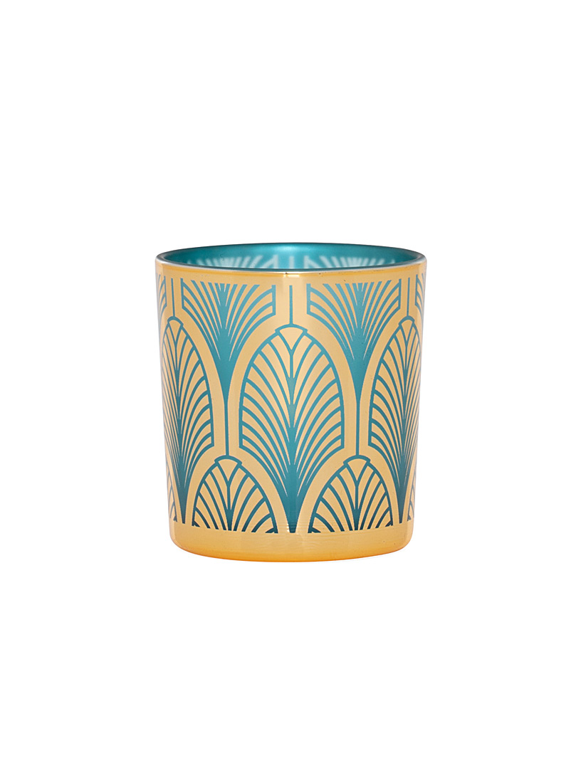 Simons Maison Assorted Aqua feather candle holder