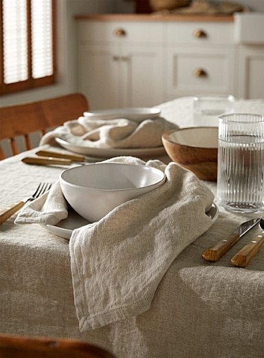 Natural pure linen napkin