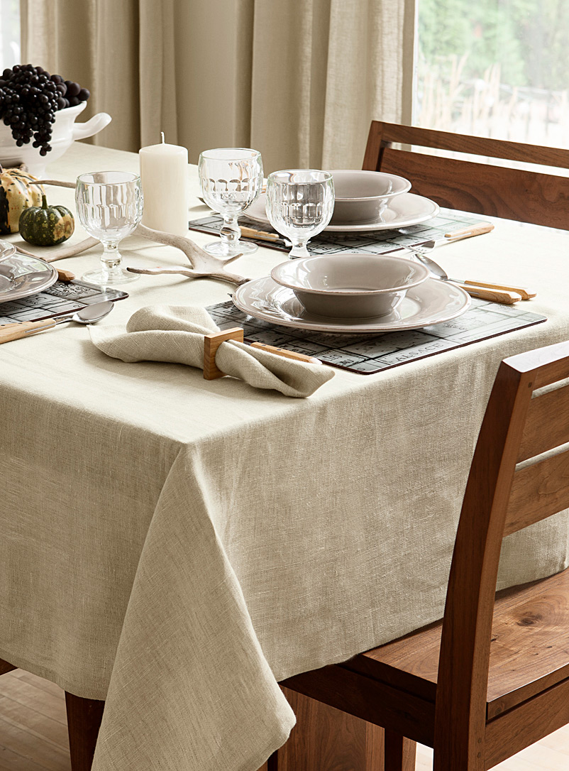 Simons Maison Sand Natural pure linen tablecloth
