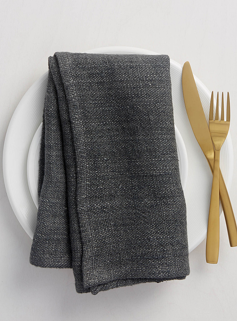 charcoal-grey-pure-linen-napkin
