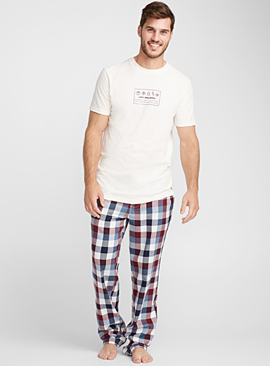 Rustic flannel lounge pant