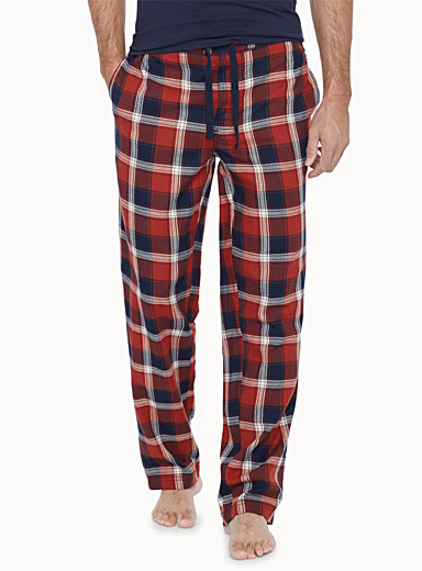 Checkered flannel lounge pant
