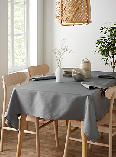 Simons Maison Grey Faux-linen tablecloth  All sizes