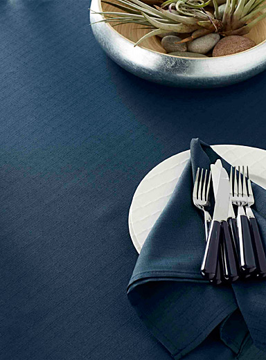 Simons Maison Marine Blue Faux-linen tablecloth  All sizes