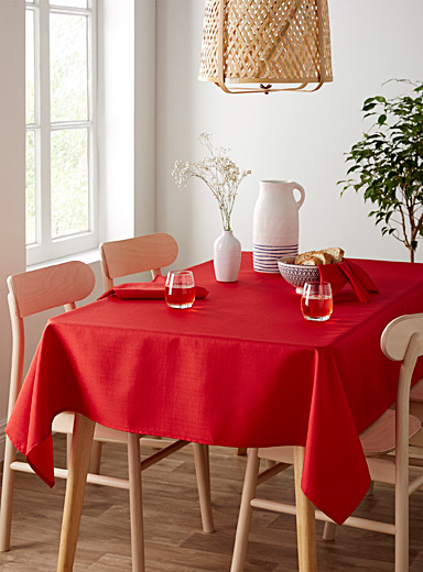 Faux-linen tablecloth <br>All sizes
